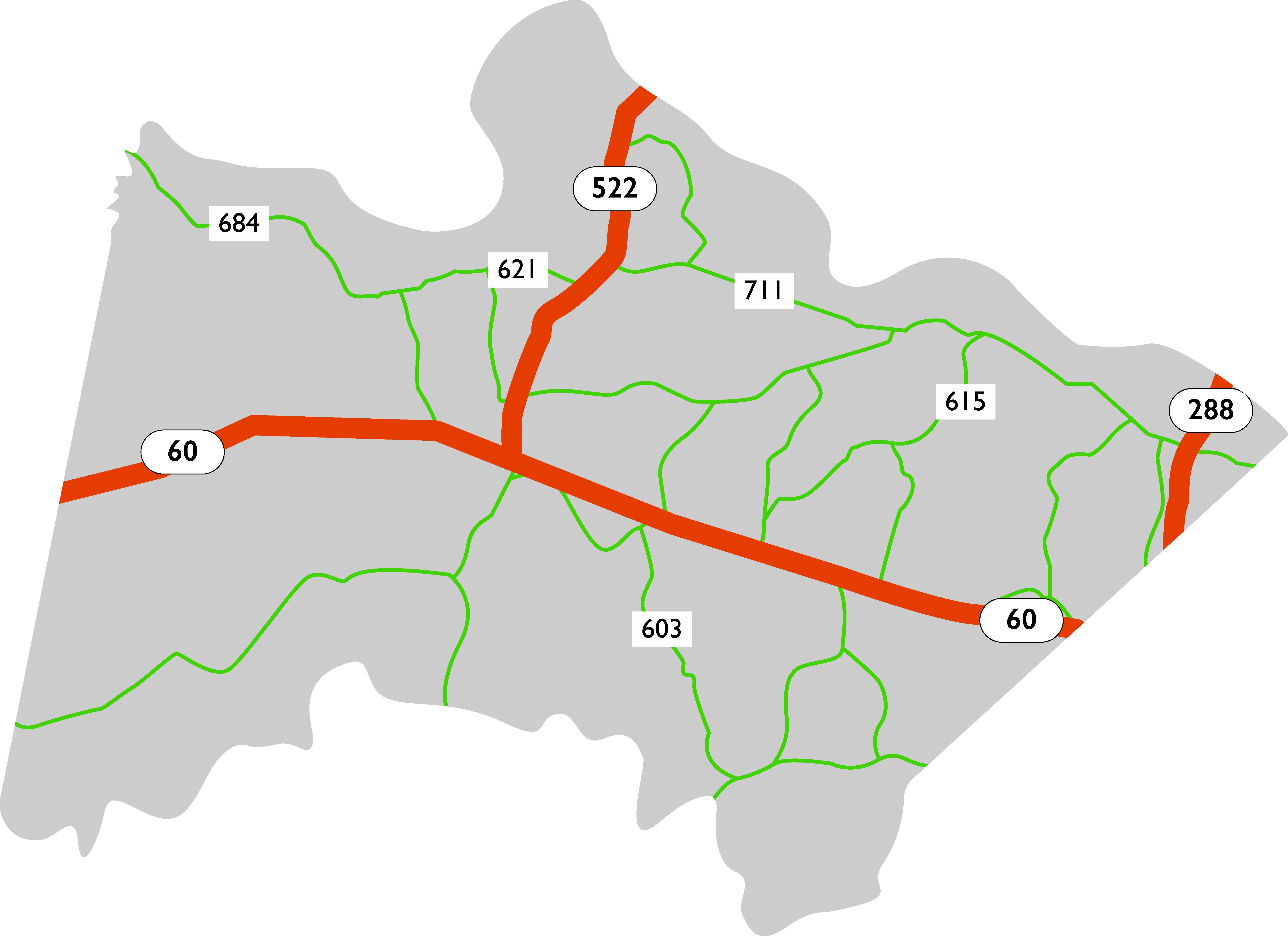 Powhatan map